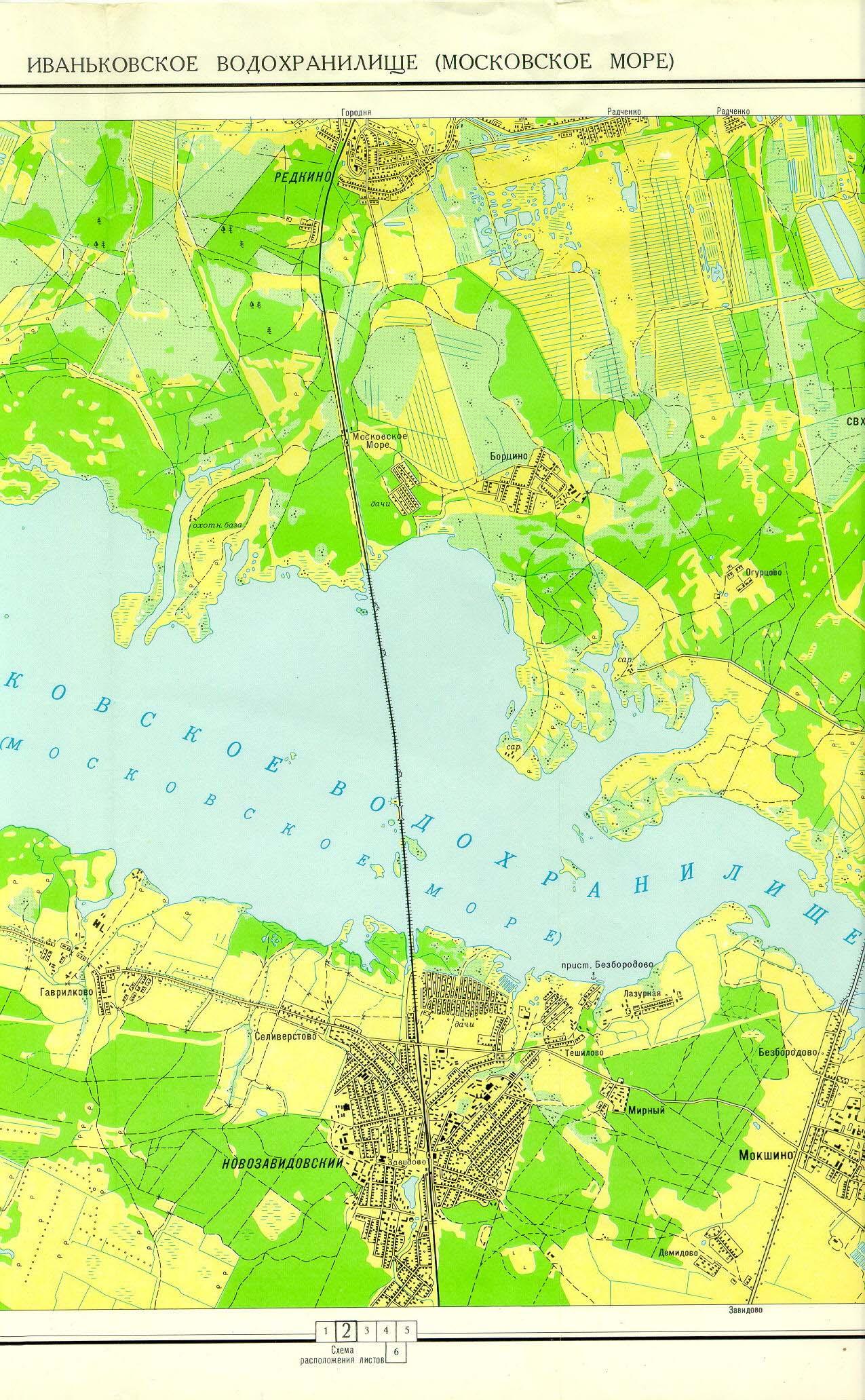 карта водоемов московской области для рыбалки